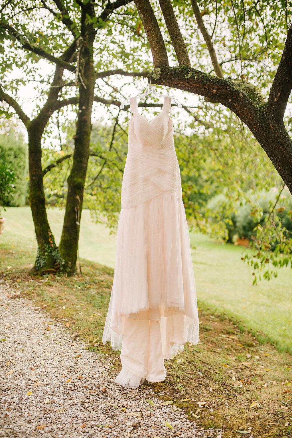 Bridal Gown , destination wedding in Tuscany villa