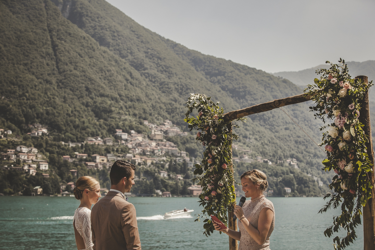 Ceremony at Villa Regina Teodolinda A destination wedding in Lake Como