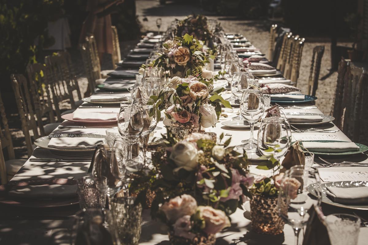 Dinner Setting Villa Regina Teodolinda Italian Wedding Designer