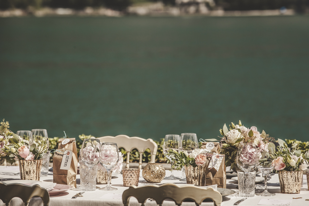 Table Setting Villa Regina Teodolinda Italian Wedding Designer