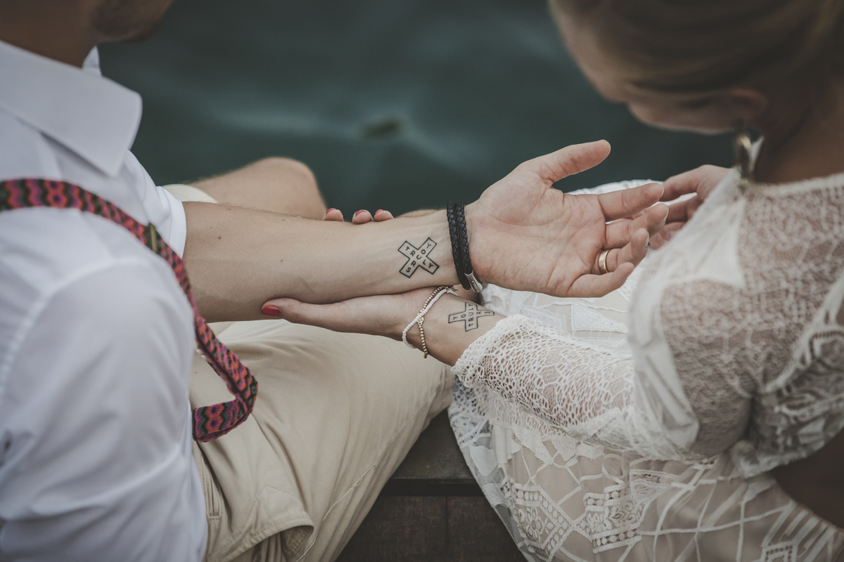 Wedding tattoo - A destination wedding in Como Lake Italian Wedding Designer