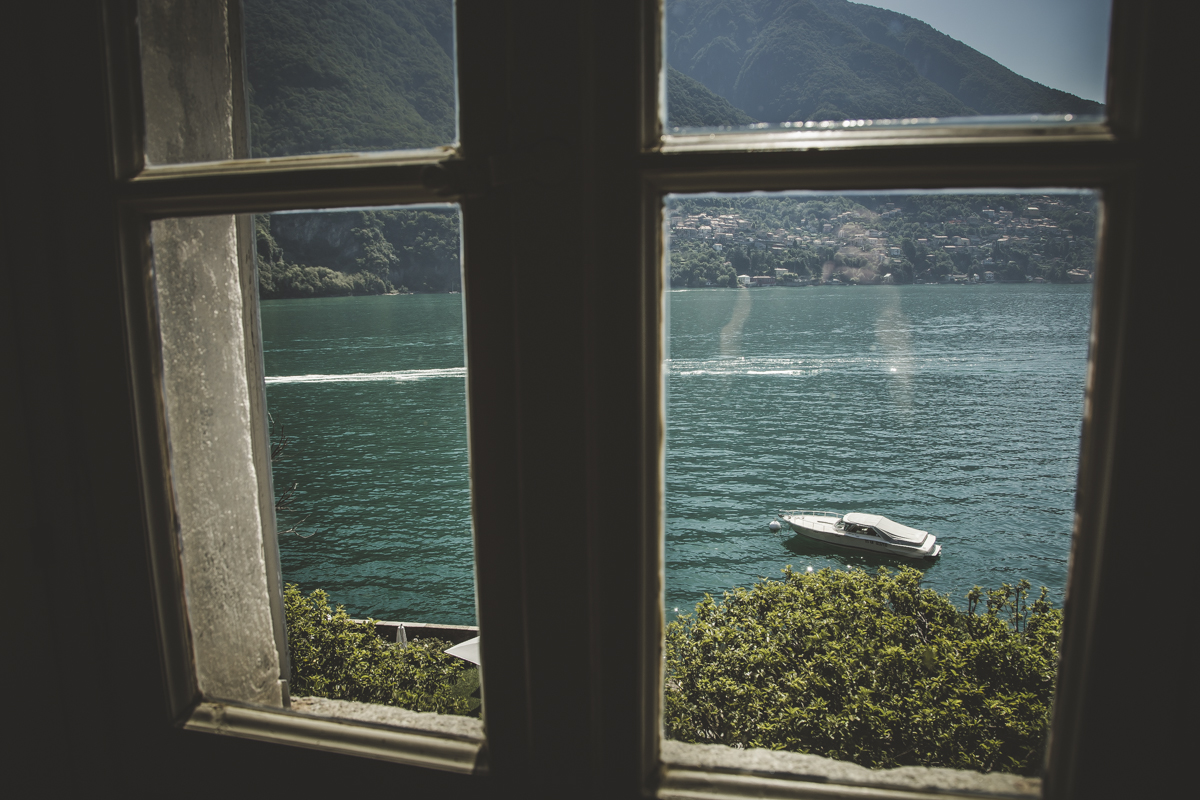 View from Villa Regina Teodolinda A destination wedding in Lake Como