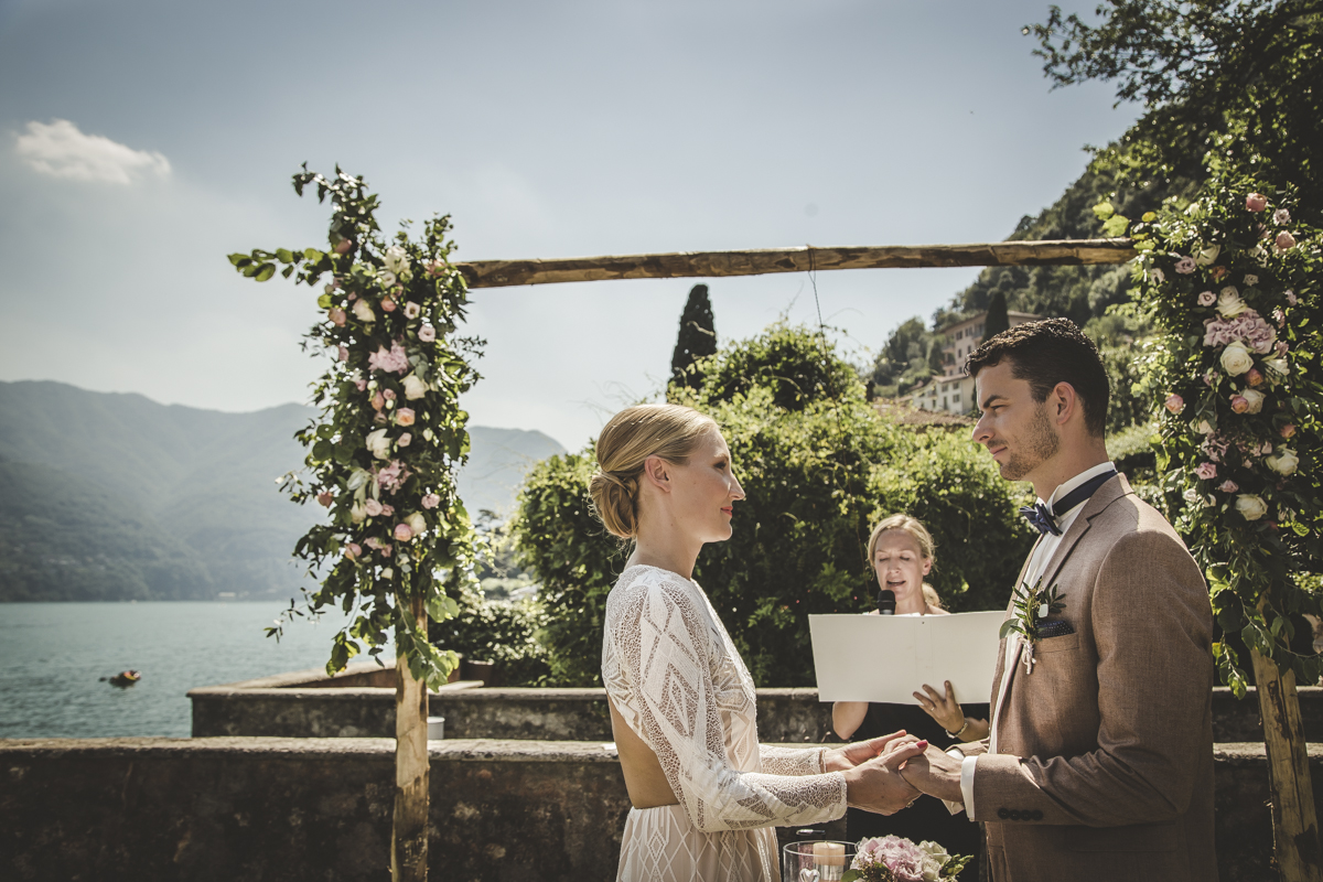 Ceremony Arch at Villa Regina Teodolinda - A destination wedding in Lake Como