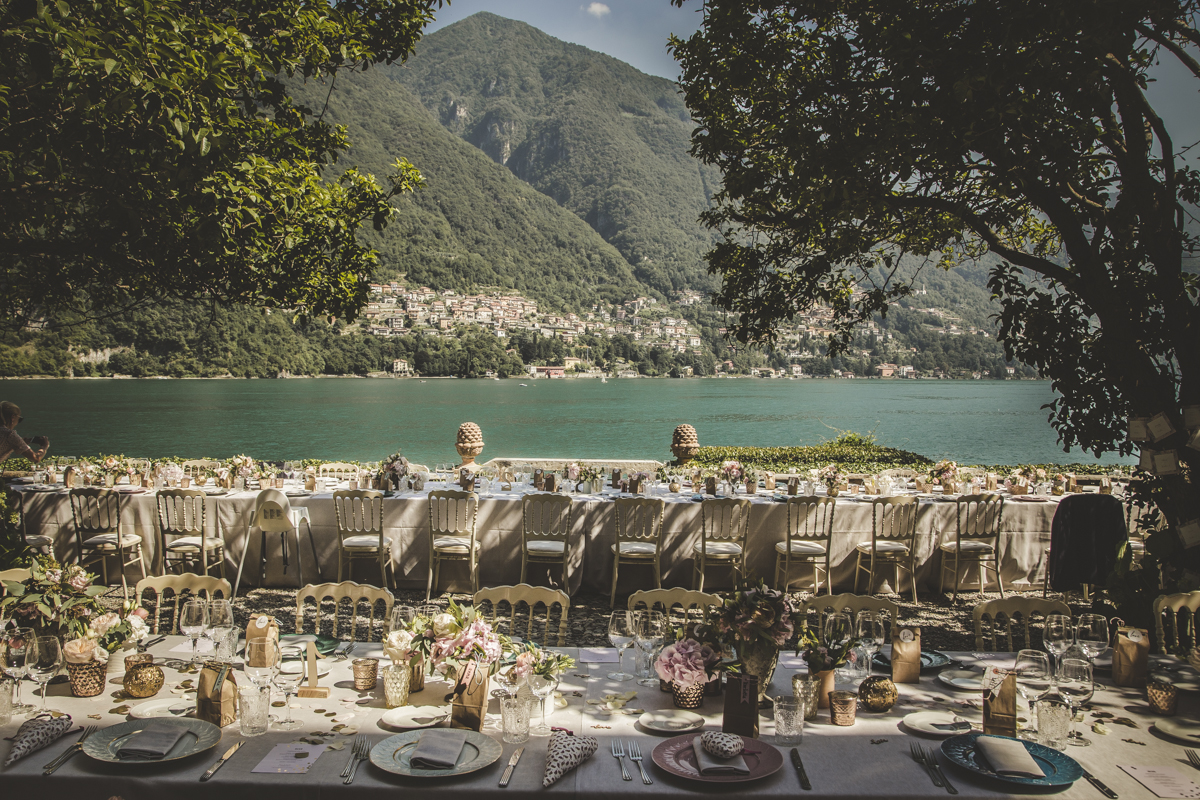 Dinner outdoor Como Lake Wedding Italian Wedding Designer