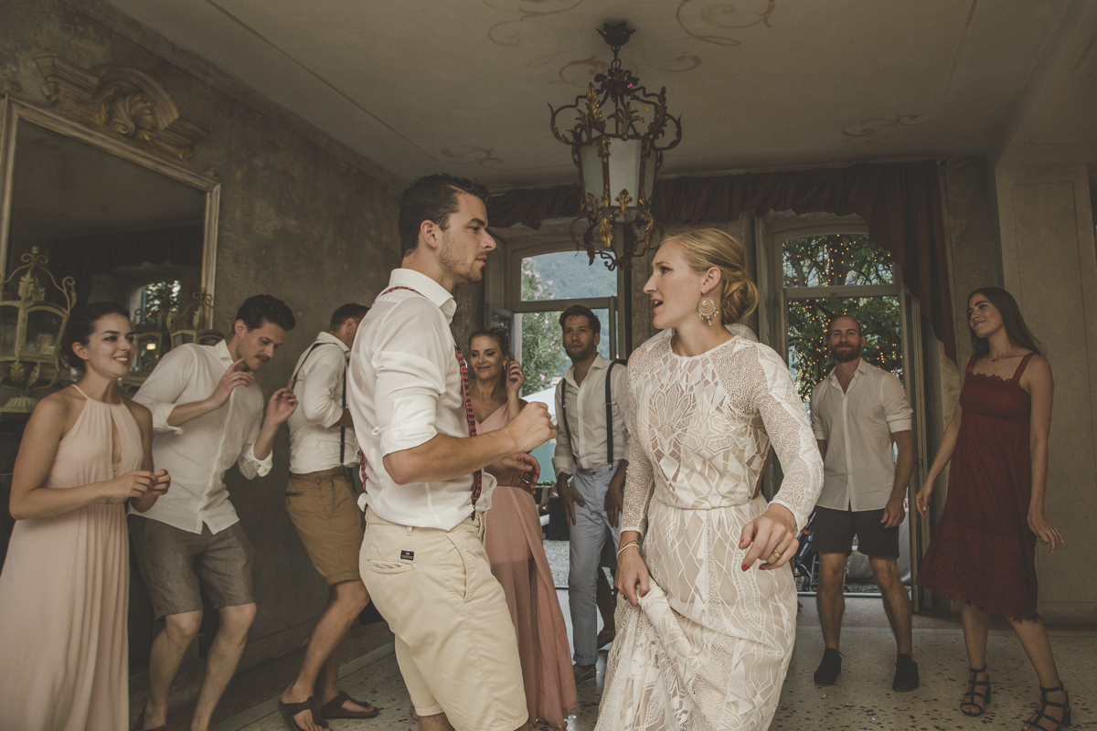 Dance at Villa Regina Teodolinda Bride & Groom Italian Wedding Designer