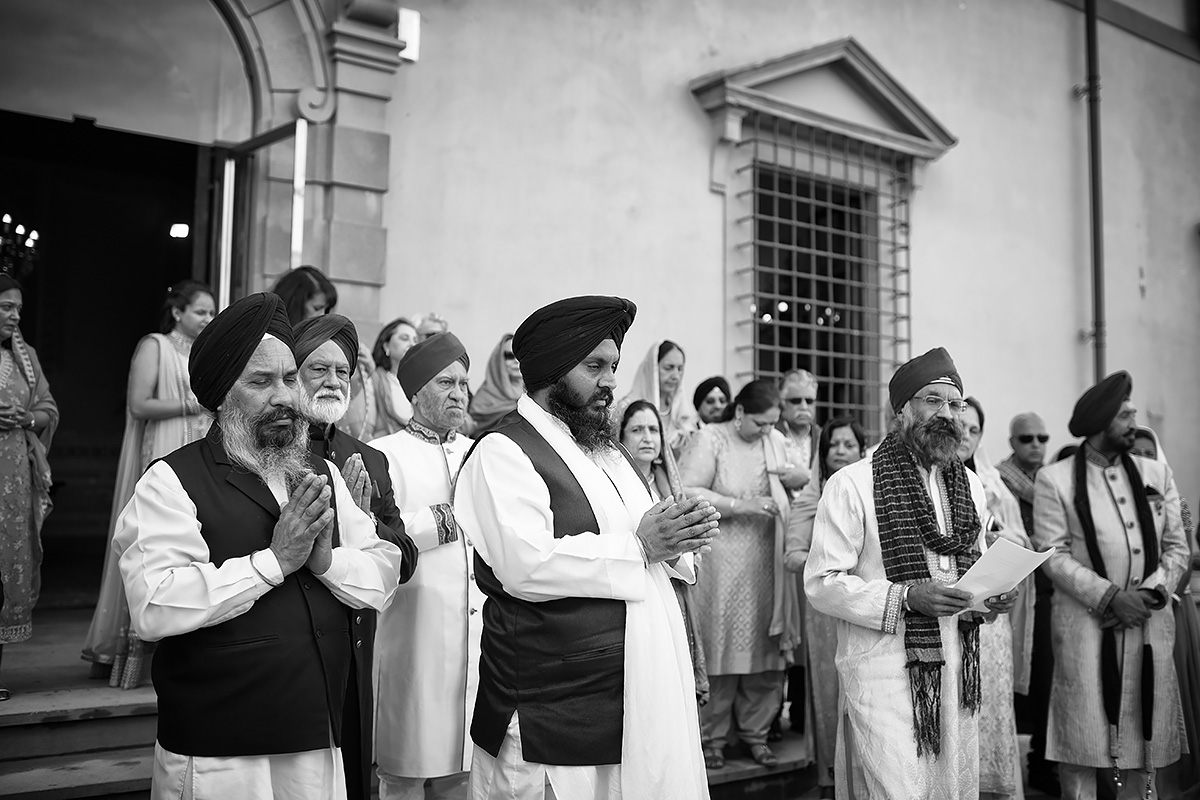 Milni Ceremony in Italy - Sikh wedding - Italian Wedding Designer