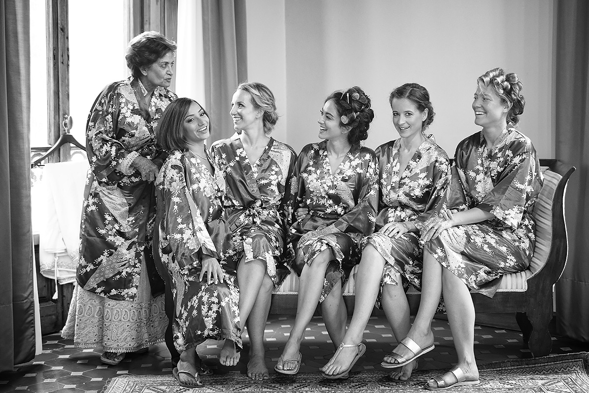Bridesmaids, sikh wedding in Italy