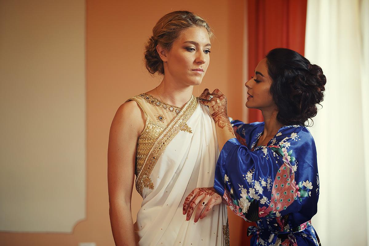 Sikh Bride and Bridesmaid - Italian Wedding Designer