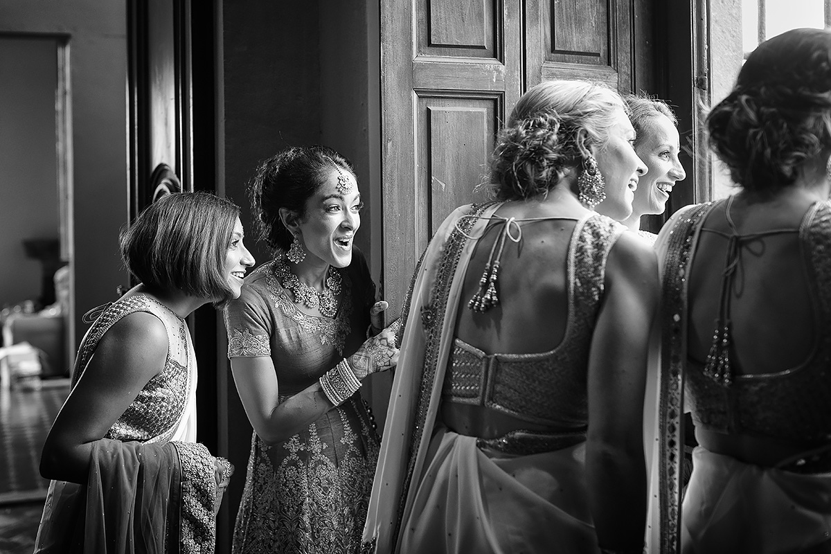 Sikh Bride & Bridesmaids with Sari - Italian Wedding Designer