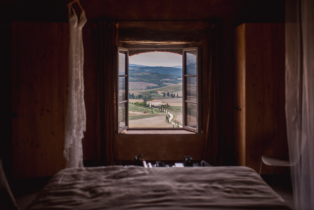 View from the Bridal Suite - Italian Wedding Designer