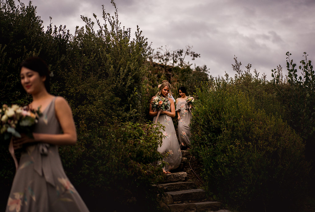Bridesmaids entrance - Wedding in Tuscany - Italian Wedding Designer