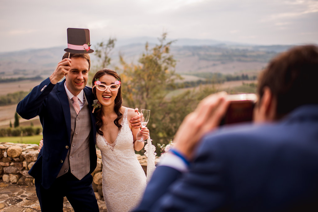 Bride & Groom Photo Booth - Wedding in Tuscany - Italian Wedding Designer
