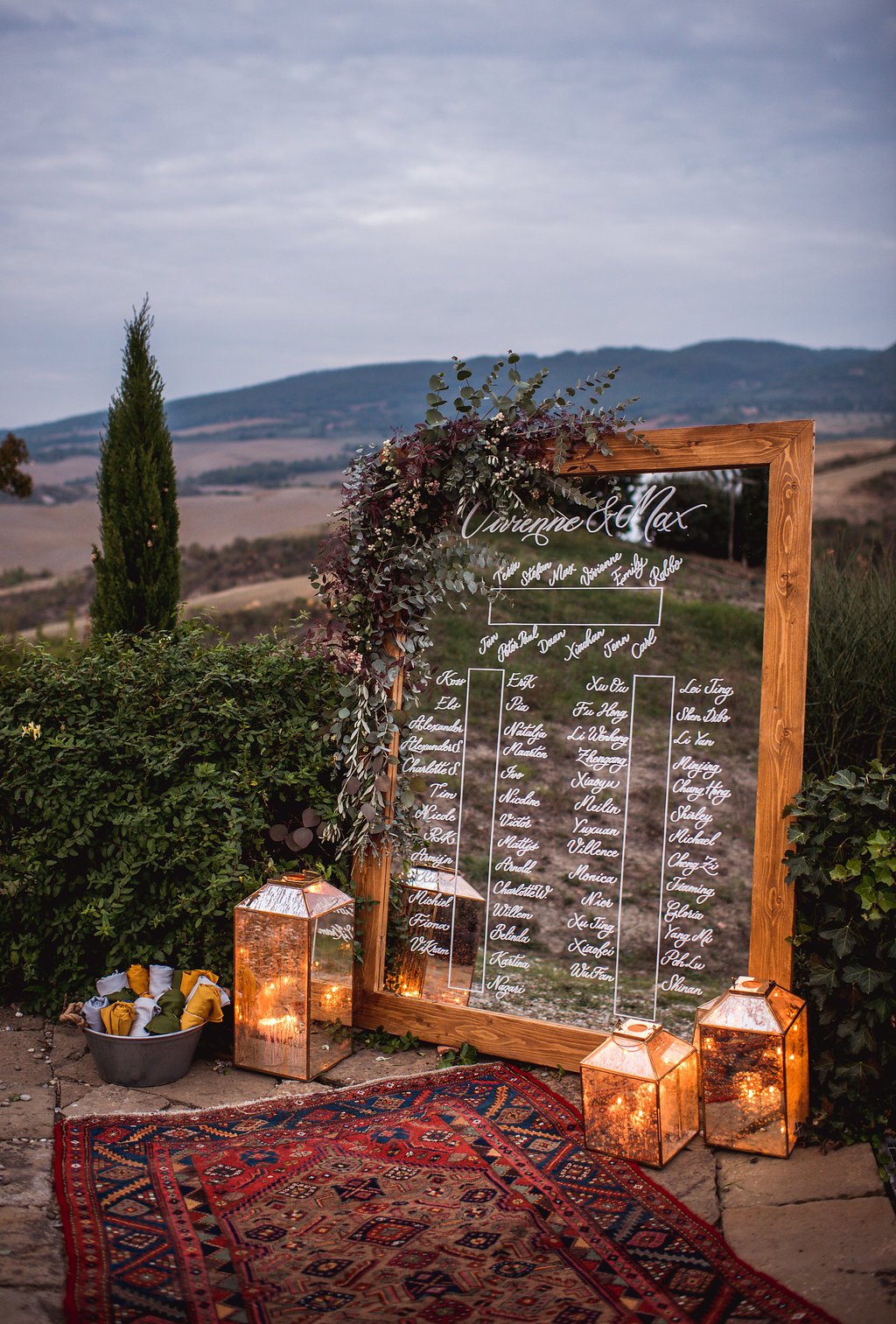 Table Plan - Wedding in Tuscany - Italian Wedding Designer