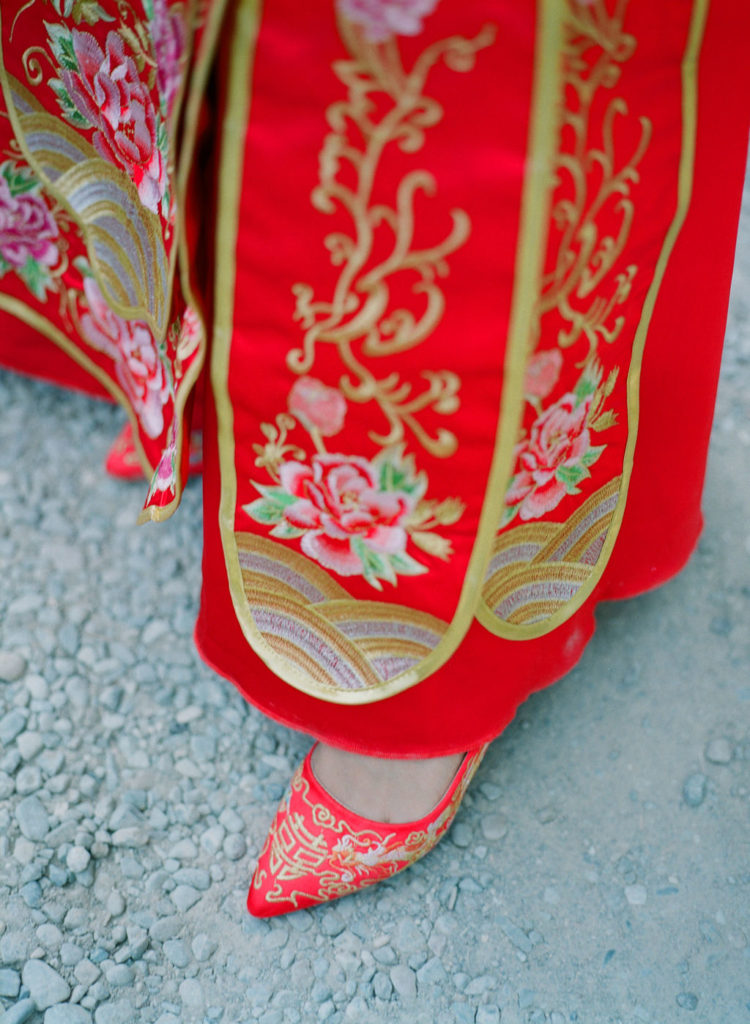 Traditional Chinese wedding dress - Chinese Tea Ceremony in Italy- Italian Wedding Designer