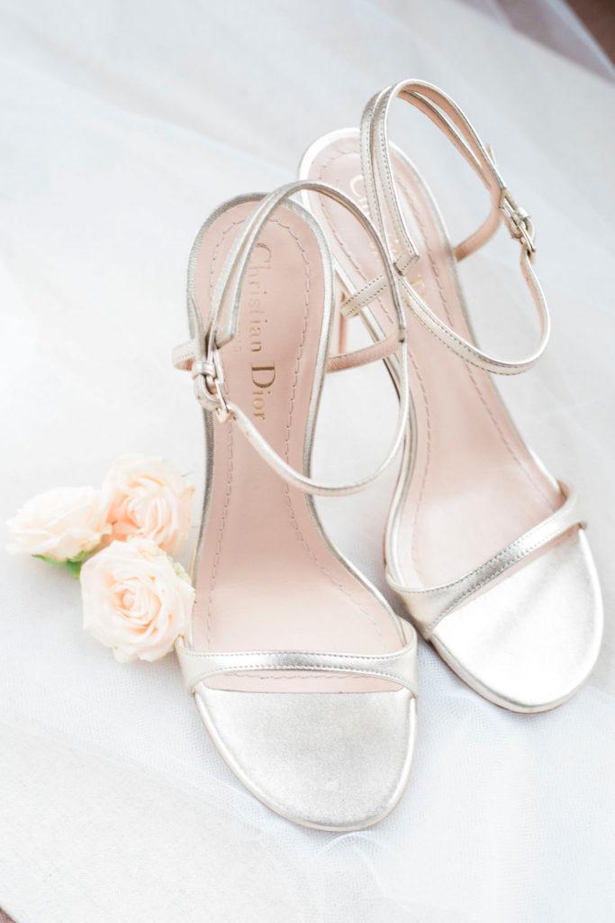Bridal shoes Christian Dior - Wedding at Villa La Foce - Italian Wedding Designer