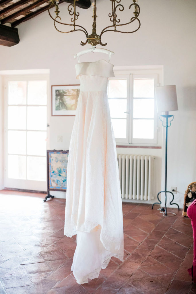 Bridal Gown - Wedding at Villa La Foce - Italian Wedding Designer