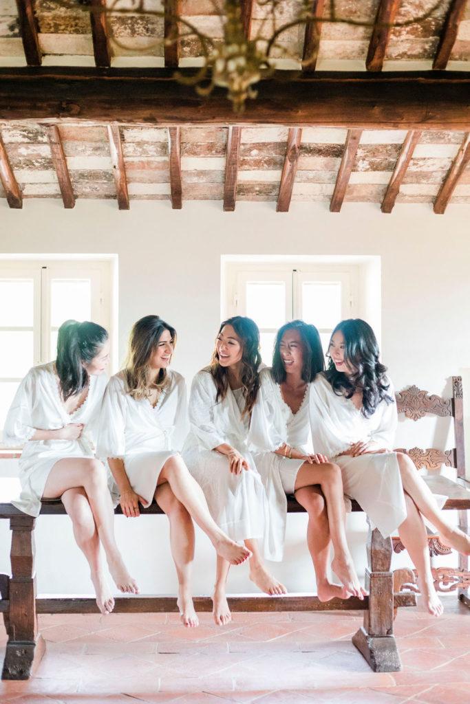 Bride and Bridesmaids - Wedding at Villa La Foce - Italian Wedding Designer