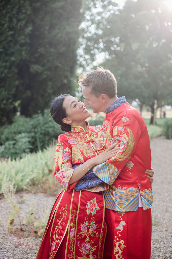 Sunset time couple's portrait - Chinese Tea Ceremony in Italy- Italian Wedding Designer