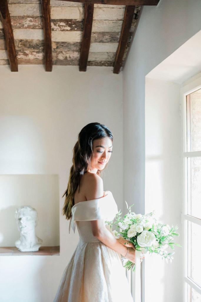 Bride Portrait - Wedding at Villa La Foce - Italian Wedding Designer