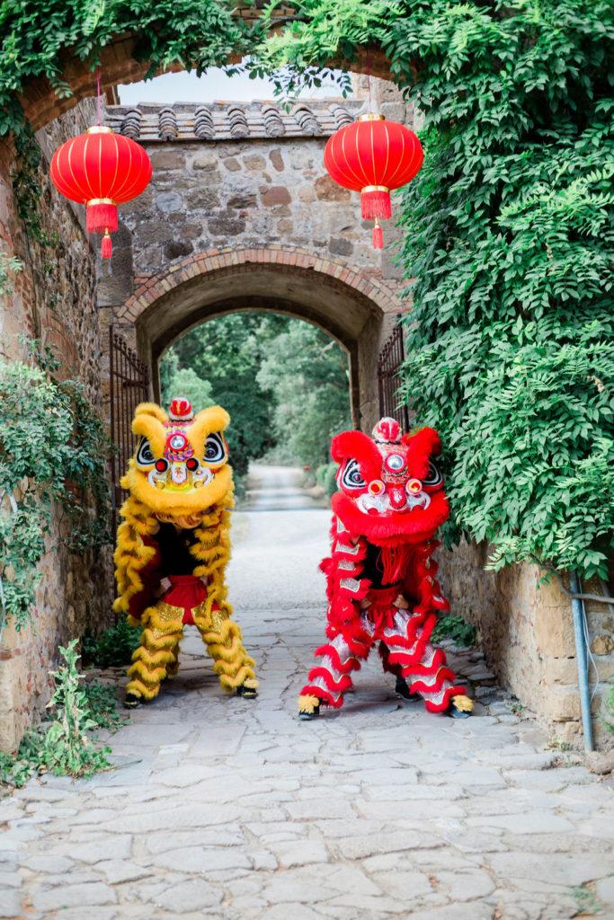 Dragon dance - Chinese Tea Ceremony in Italy- Italian Wedding Designer