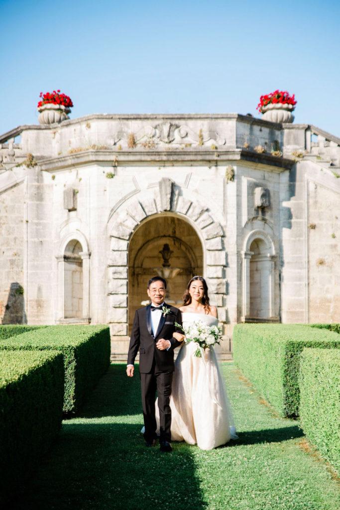 Bride Entrance - Wedding at Villa La Foce - Italian Wedding Designer