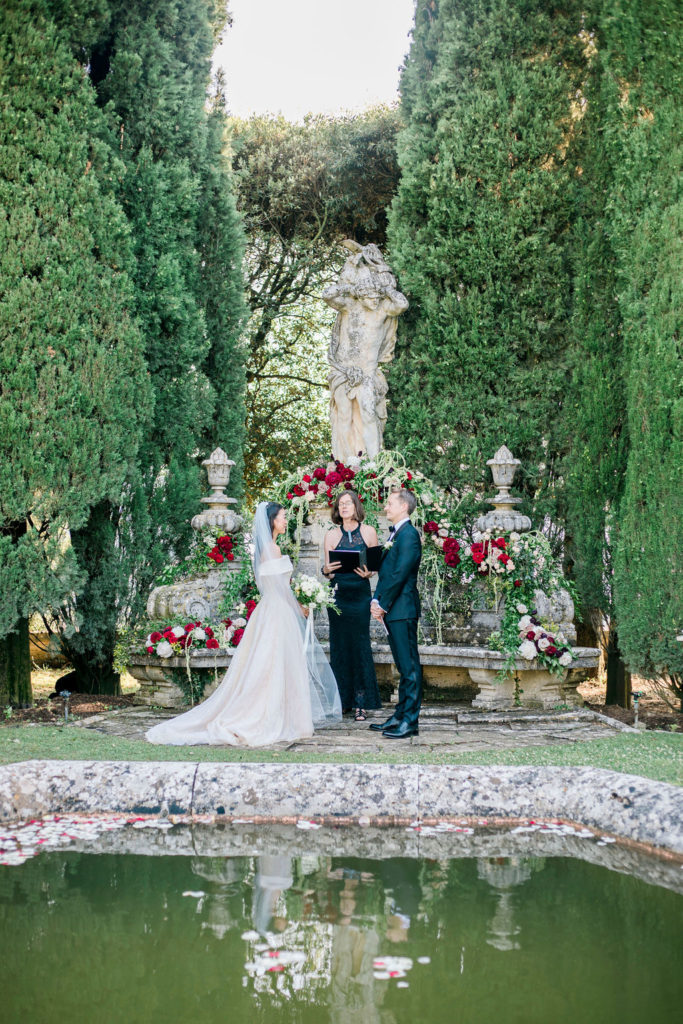 Ceremony by Tuscan Pledges - Wedding at Villa La Foce - Italian Wedding Designer