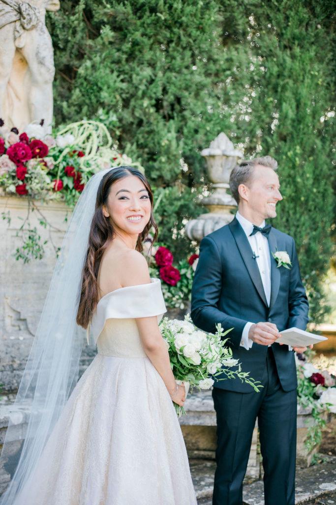 Symbolic Ceremony La Foce - Wedding at Villa La Foce - Italian Wedding Designer