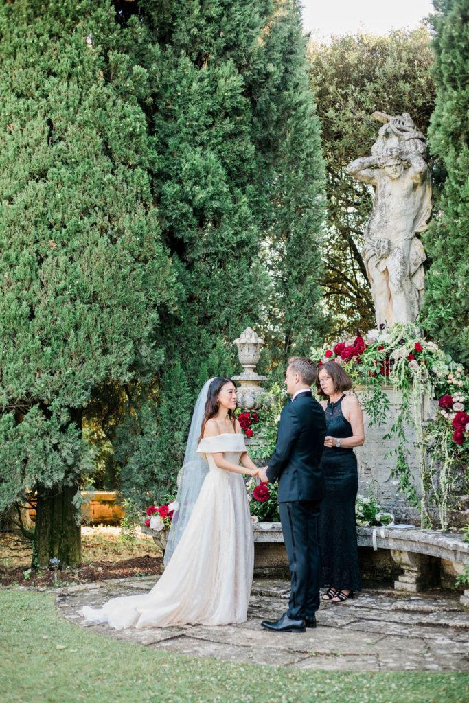 Ceremony at La Foce - Wedding at Villa La Foce - Italian Wedding Designer