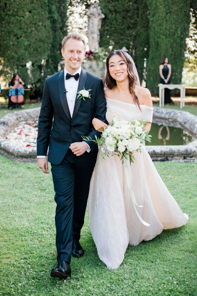 Recessional at La Foce - Wedding at Villa La Foce - Italian Wedding Designer