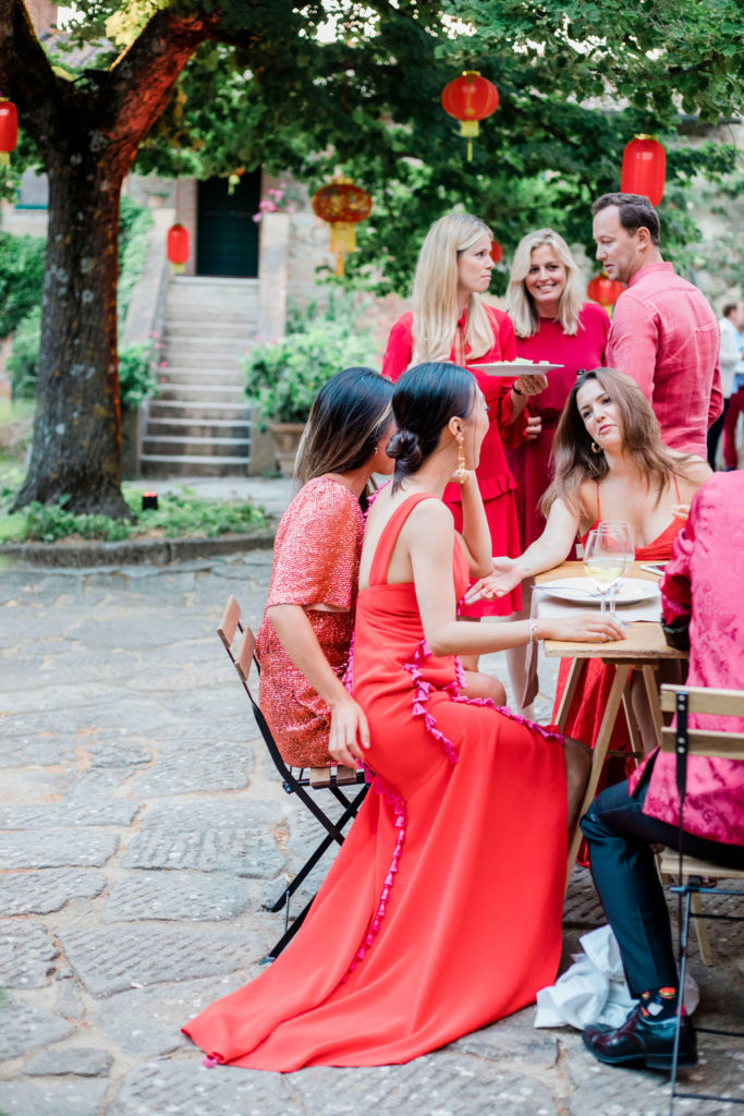 Welcome Dinner Red dress code - Chinese Tea Ceremony in Italy- Italian Wedding Designer