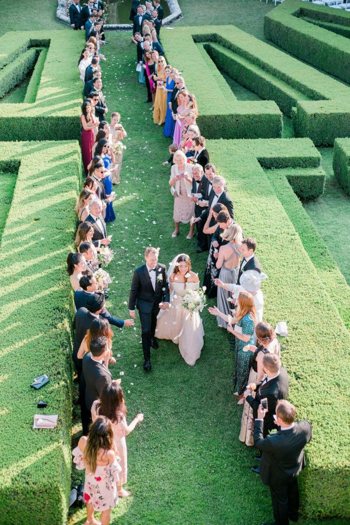 Ceremony exit - Wedding at Villa La Foce - Italian Wedding Designer