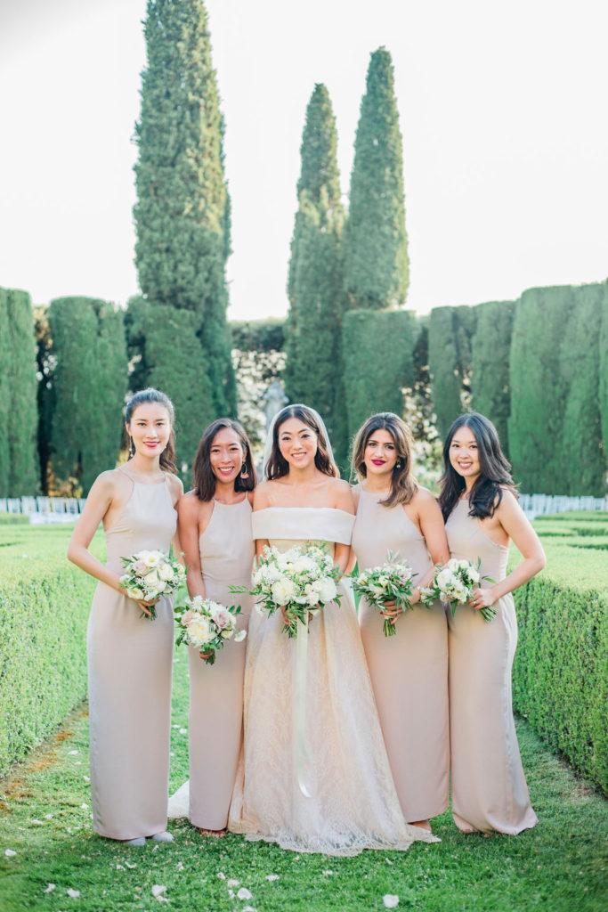 Bride & Bridesmaids photo - Wedding at Villa La Foce - Italian Wedding Designer