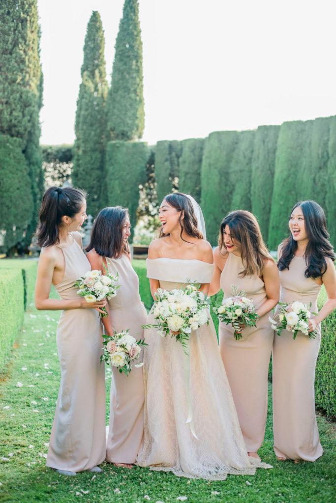 Bride & Bridesmaids - Wedding at Villa La Foce - Italian Wedding Designer