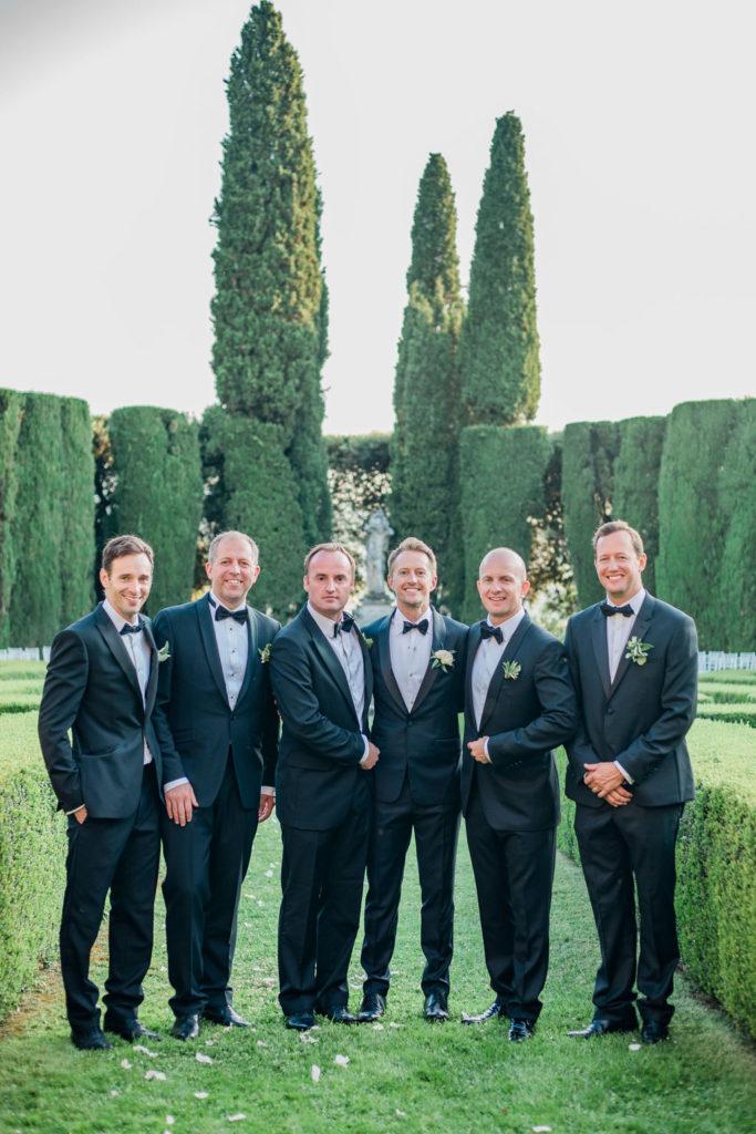 Groom and Best men - Wedding at Villa La Foce - Italian Wedding Designer