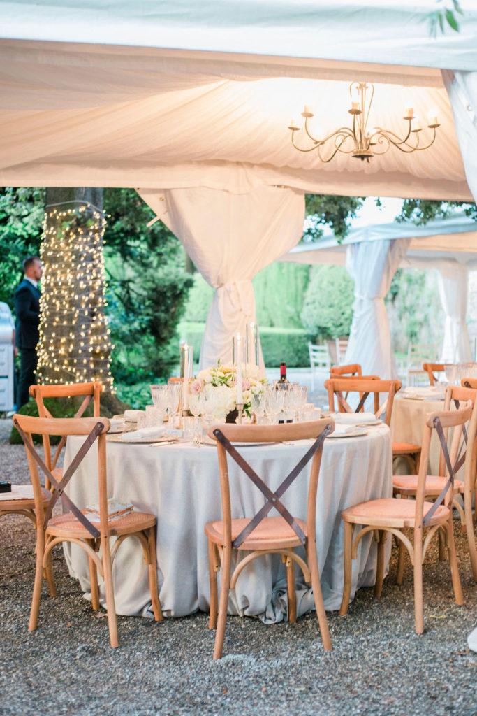 Dinner area - Wedding at Villa La Foce - Italian Wedding Designer