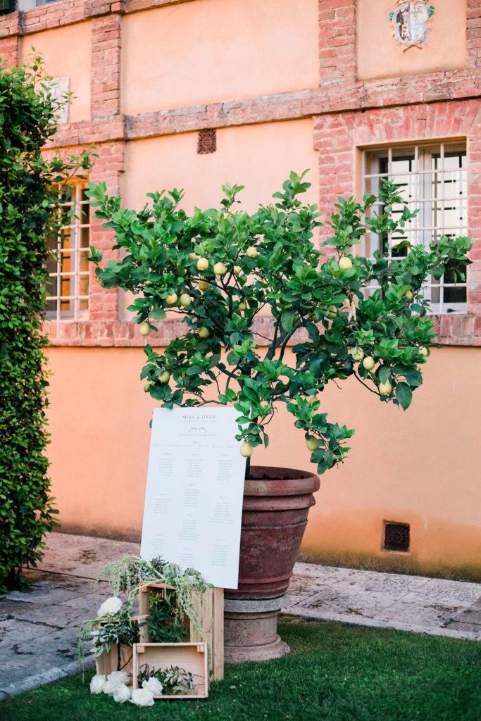 Table Plan - Wedding at Villa La Foce - Italian Wedding Designer