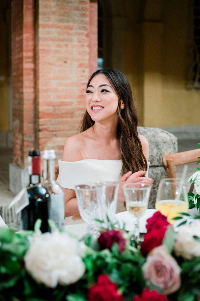 Dinner time - Wedding at Villa La Foce - Italian Wedding Designer