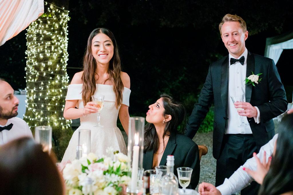 Table area - Wedding at Villa La Foce - Italian Wedding Designer