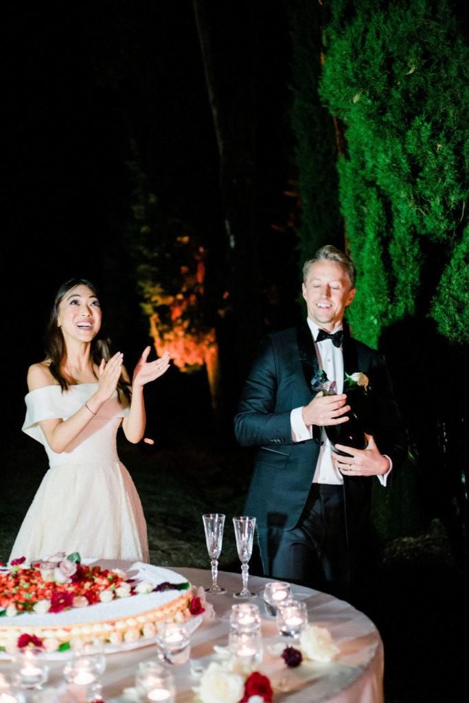 Wedding Cake - Wedding at Villa La Foce - Italian Wedding Designer