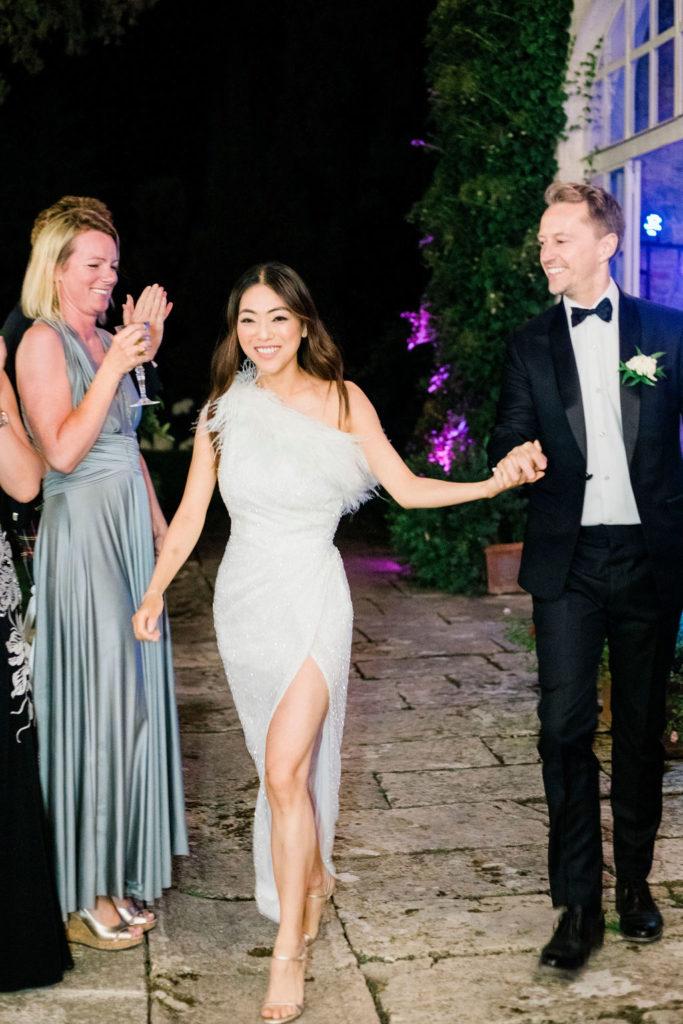 Bride second dress - Wedding at Villa La Foce - Italian Wedding Designer