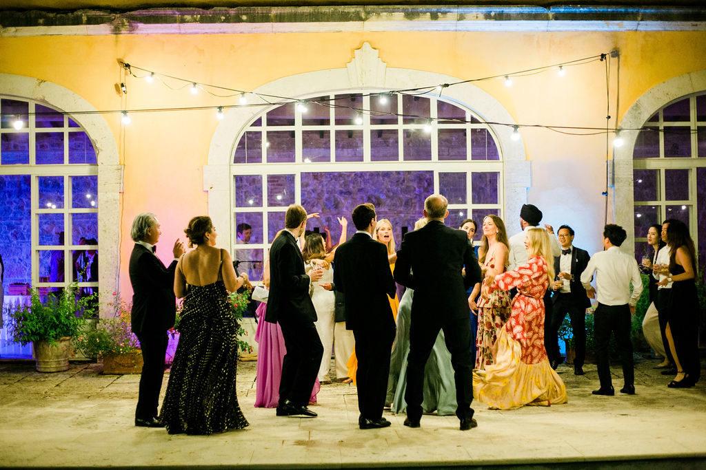 Disco lights - Wedding at Villa La Foce - Italian Wedding Designer