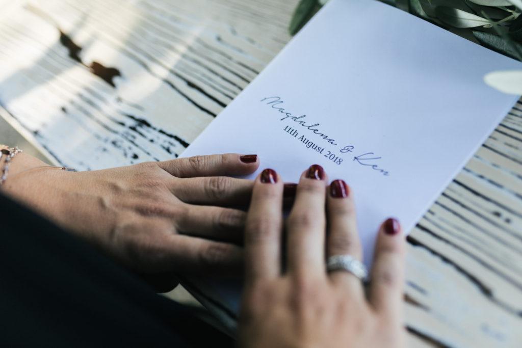 Order of Service - Wedding at Villa Le Fontanelle - Italian Wedding Designer