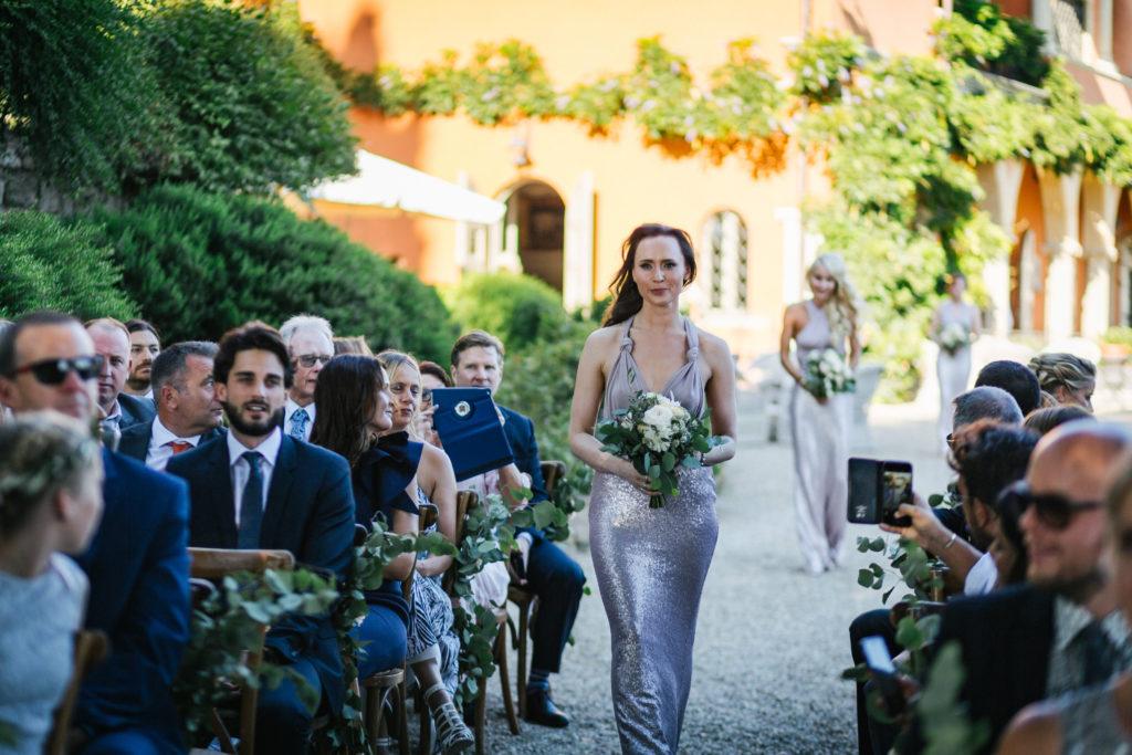 Bridesmaids Entrance - Wedding at Villa Le Fontanelle - Italian Wedding Designer