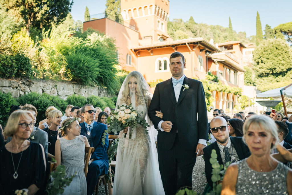 Bride Entrance - Wedding at Villa Le Fontanelle - Italian Wedding Designer