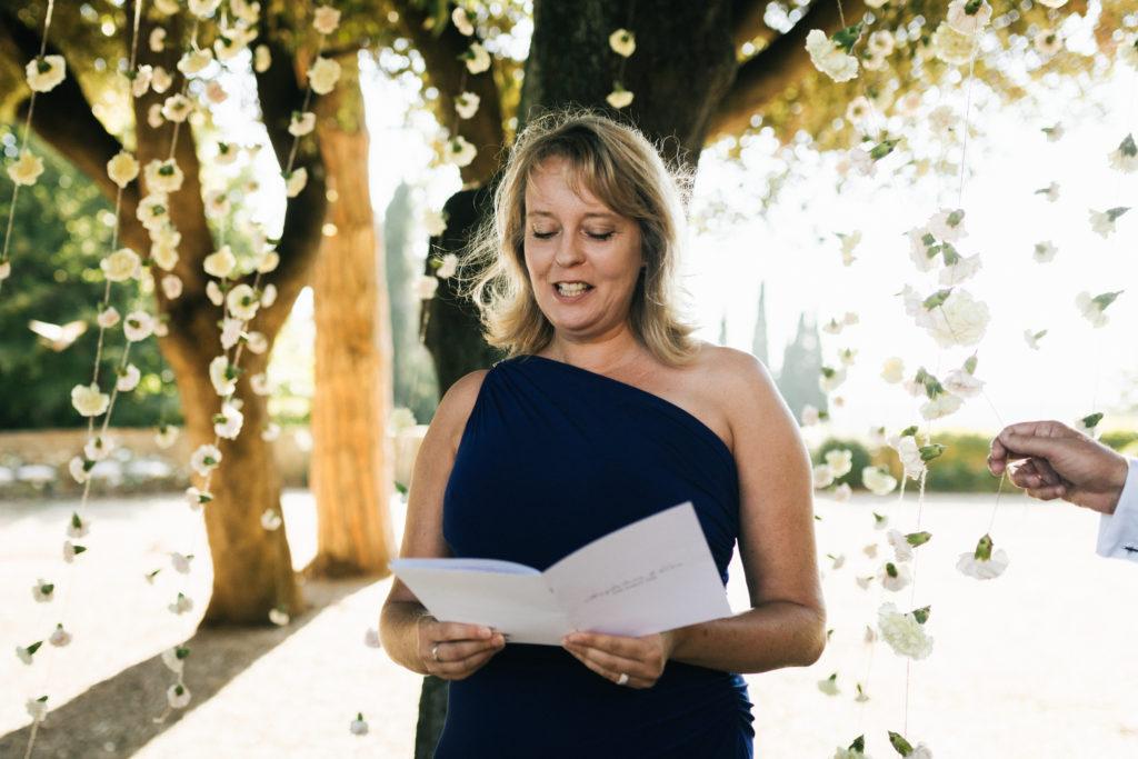 Reader - Wedding at Villa Le Fontanelle - Italian Wedding Designer