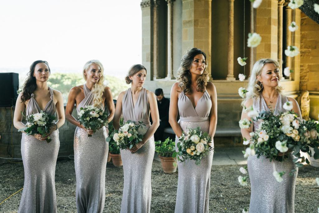 Bridesmaids - Wedding at Villa Le Fontanelle - Italian Wedding Designer