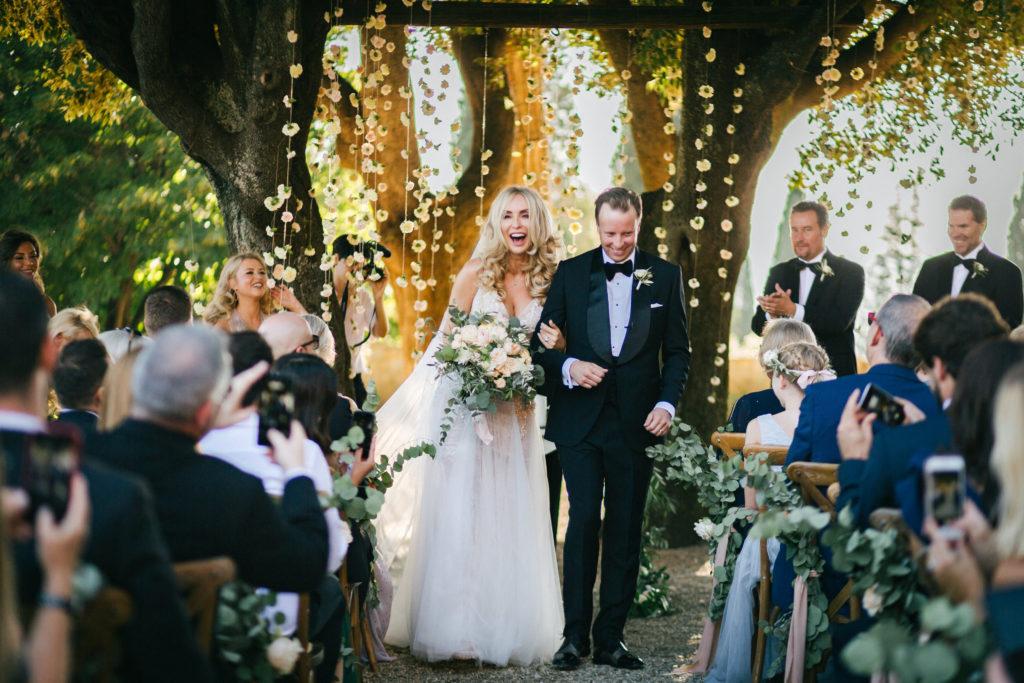 Recessional - Wedding at Villa Le Fontanelle - Italian Wedding Designer