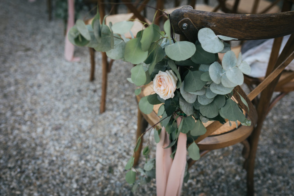 Ceremony Chair bouquet
