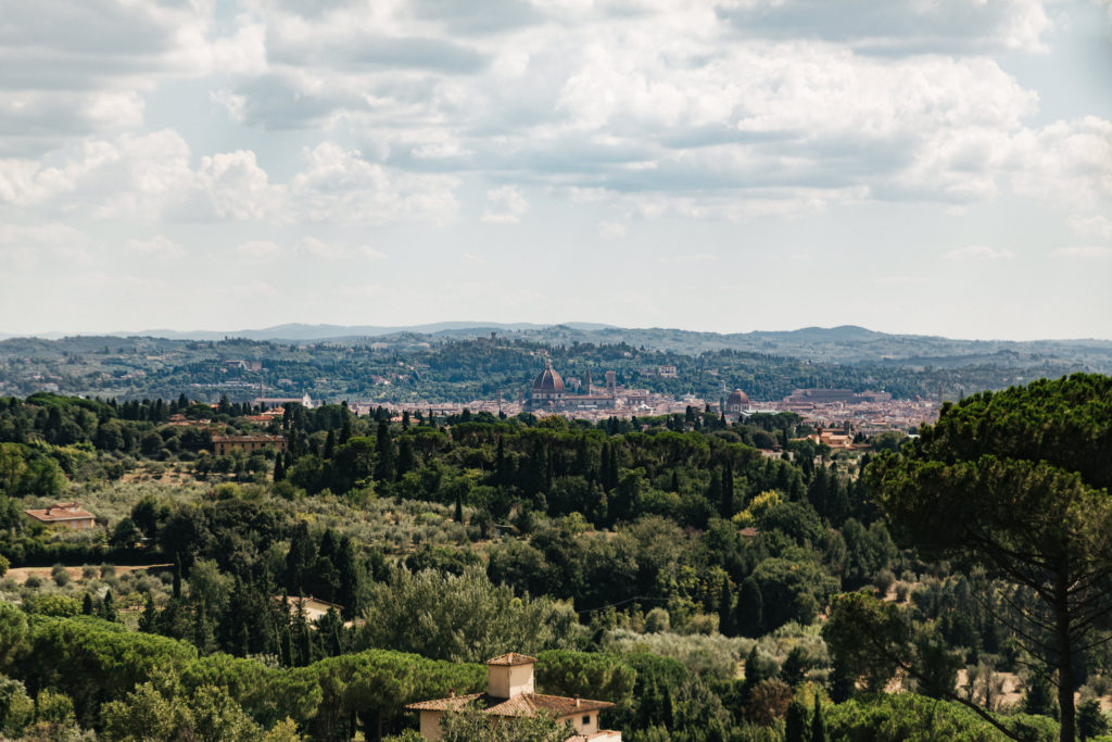 Overlooking Florence from VIlla Le Fontanelle
