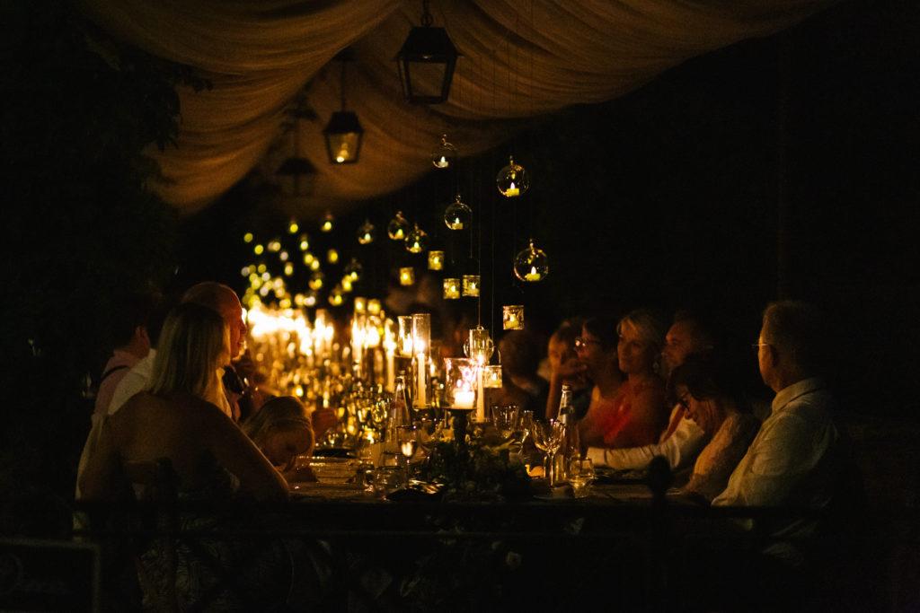Lighting during dinner - Italian Wedding Designer - Wedding at Villa Le Fontanelle